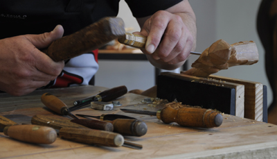 Warren McGrath Kura Gallery Maori Carving New Zealand Art Design Live Carving 6