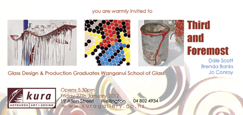 Kura Gallery Wellington Exhibition First and Foremost Wanganui Glass Graduates