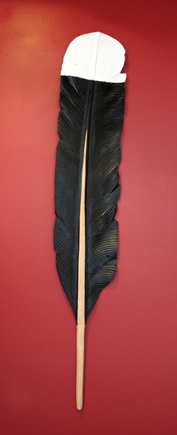 Mat Scott Kura Gallery Maori Art Design New Zealand Aotearoa Carving Reclaimed Kauri Feather Extra Large