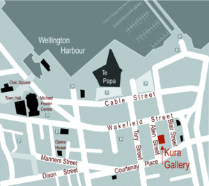 kura gallery wellington map